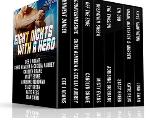 Eight Nights With a Hero…Cold nights, hot heroes and eight deadly secrets #Giveaway #Excerpt