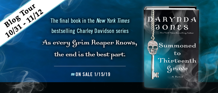 Entire Charley Davidson series by Darynda Jones, an ARC of the epic finale, Summoned to Thirteenth Grave, plus fun swag!