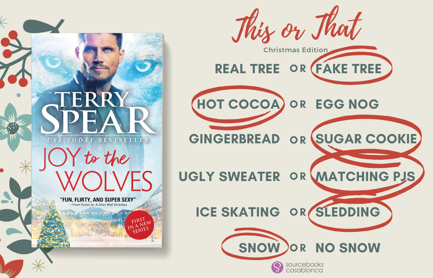 Holiday Spotlight, Excerpt and Giveaway! Joy to the Wolves by Terry Spear
